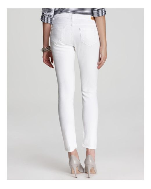 Paige Denim Jeans - Skyline Ankle Peg In Optic White in White | Lyst