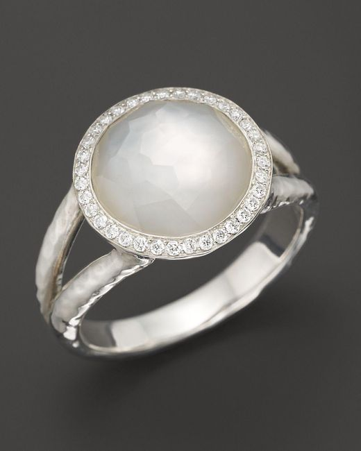 Ippolita   Multicolor Sterling Silver Stella Ring In Mother-of-pearl With Diamonds   Lyst