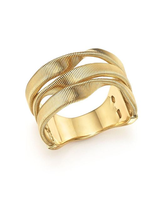 Marco Bicego - Metallic 18k Yellow Gold Marrakech Supreme Three Strand Twisted Ring - Lyst