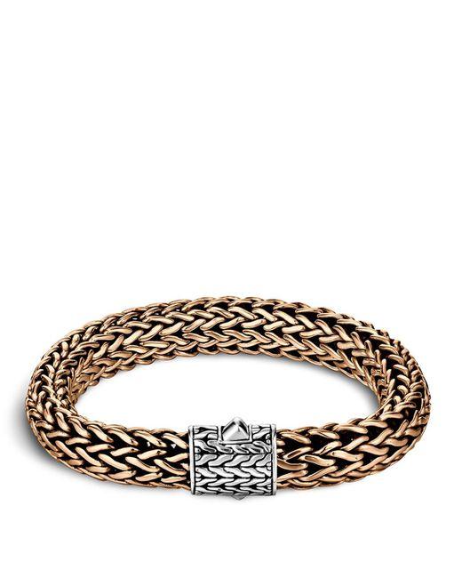 John Hardy   Metallic Men's Two-tone Woven Chain Bracelet for Men   Lyst
