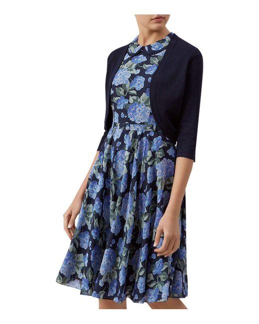 Hobbs - Blue Carrie Knitted Bolero - Lyst