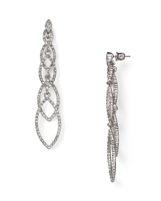 ABS By Allen Schwartz | Metallic Navette Linear Earrings | Lyst