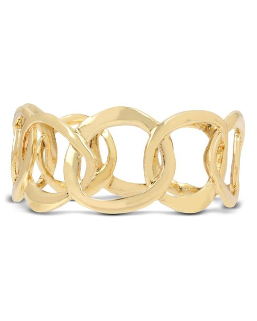 Robert Lee Morris - Metallic Sculptural Link Bangle Bracelet - Lyst