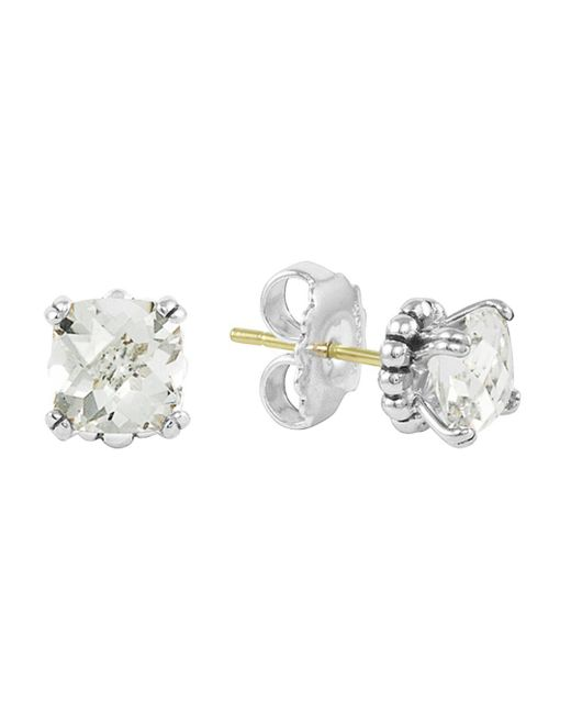 Lagos - Sterling Silver Prism White Topaz Stud Earrings - Lyst