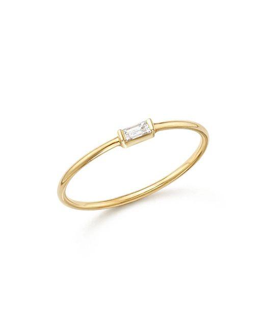 Zoe Chicco - Metallic 14k Yellow Gold Diamond Baguette Ring - Lyst
