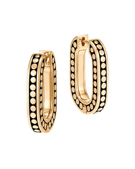 John Hardy | Metallic 18k Yellow Gold Dot Small Link Earrings | Lyst
