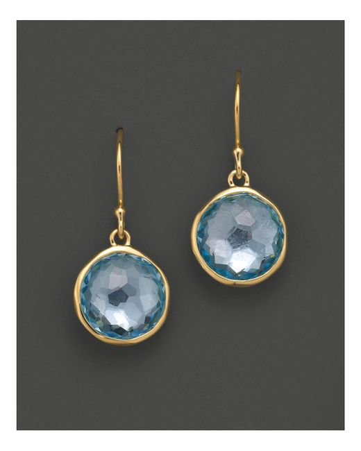 Ippolita - Metallic 18k Gold Lollipop Earrings In Blue Topaz - Lyst