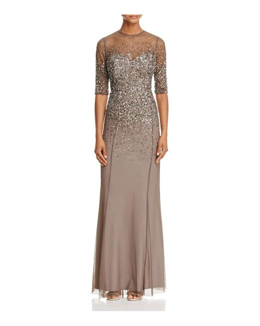 Adrianna Papell | Multicolor Sequin-bodice Gown | Lyst