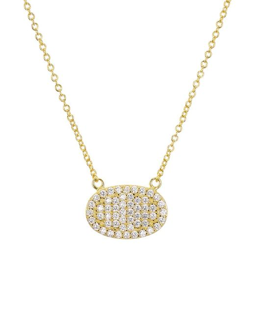 Aqua Metallic Sterling Silver Ellipse Pendant Necklace
