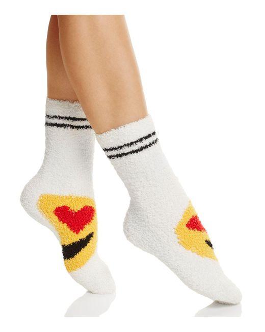 Pj Salvage   White Emoji Socks   Lyst