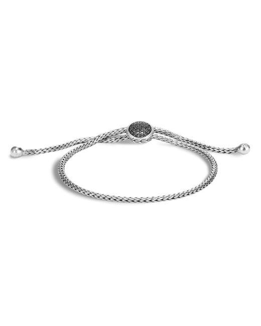 John Hardy - Metallic Sterling Silver Classic Chain Black Sapphire & Black Spinel Ball Bracelet - Lyst
