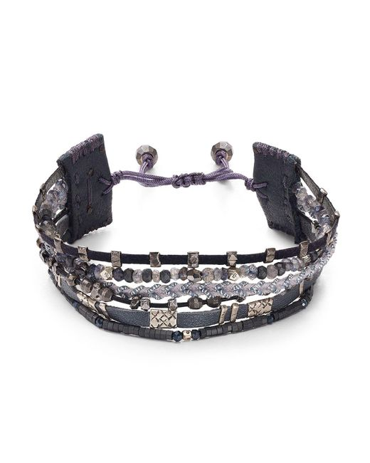 Chan Luu | Gray Adjustable Beaded Bracelet | Lyst