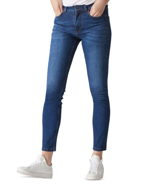 Whistles - High Rise Skinny Jeans In Blue - Lyst