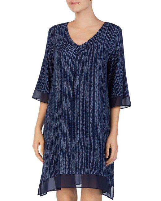 Donna Karan - Blue Short Sleepshirt - Lyst