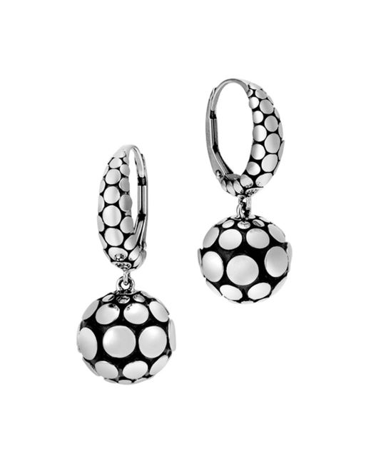 John Hardy - Metallic Sterling Silver Dot Drop Earrings - Lyst