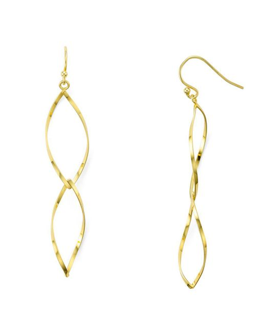 Aqua - Metallic Helix Drop Earrings - Lyst