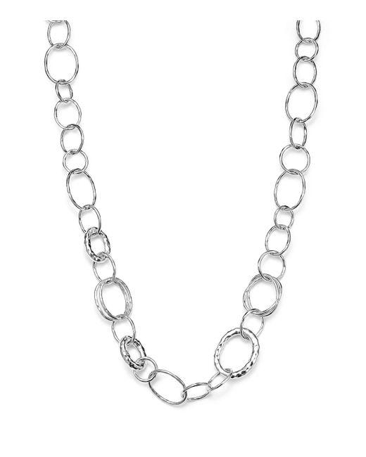 "Ippolita - Metallic Sterling Silver Short Necklace With ""bastille"" Links - Lyst"
