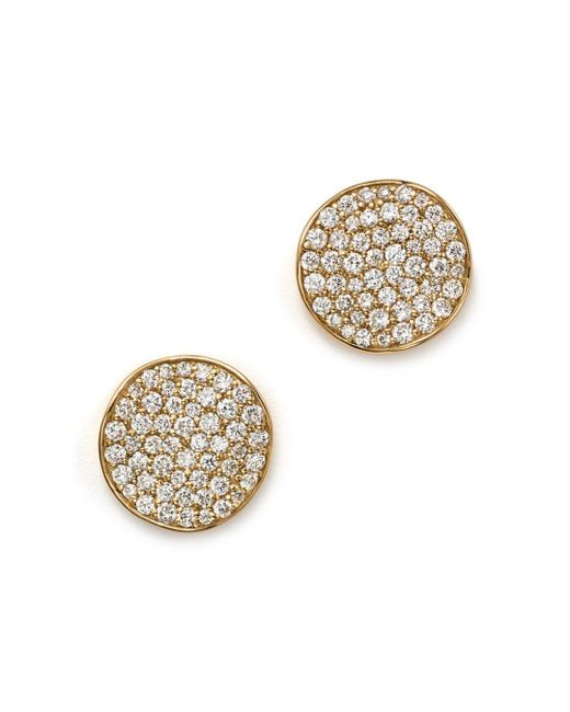 Ippolita - Metallic 18k Gold Stardust Studs With Diamonds - Lyst