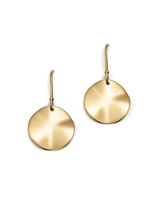Ippolita - Metallic 18k Gold Wavy Disc Earrings - Lyst