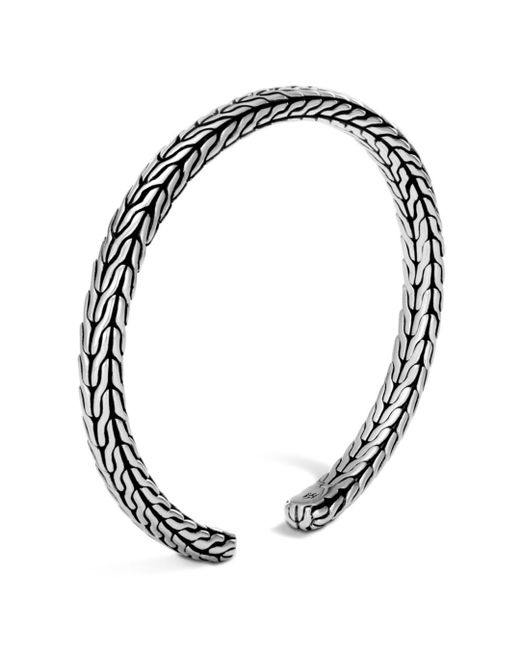 John Hardy - Metallic Sterling Silver Classic Chain Slim Cuff - Lyst