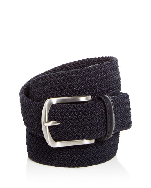Bloomingdale's - Blue Woven Stretch Belt for Men - Lyst