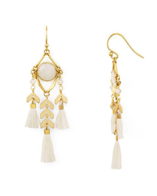 Chan Luu - Metallic Tassel Drop Earrings - Lyst