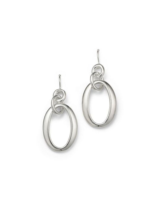 Ippolita - Metallic Sterling Silver Glamazon® Short Oval Link Earrings - Lyst