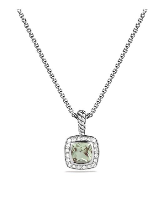 David Yurman - Metallic Petite Albion Pendant With Prasiolite And Diamonds On Chain - Lyst
