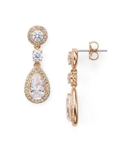 Nadri - Metallic Pear Shaped Drop Earrings - Lyst