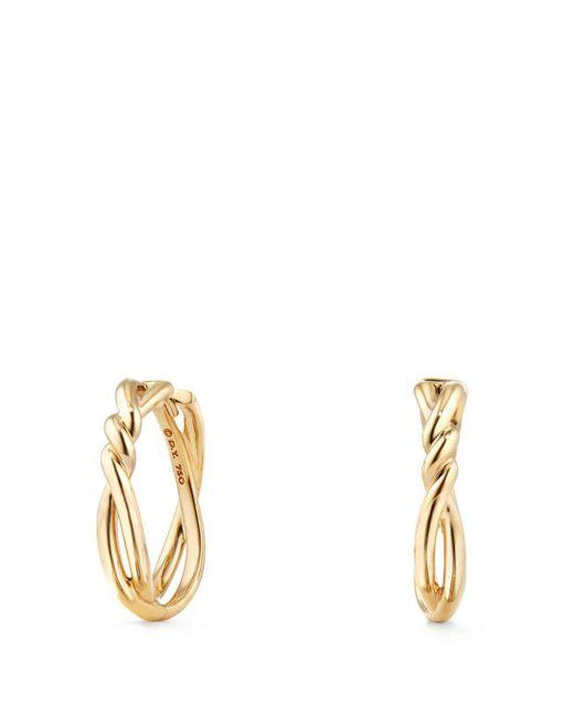 David Yurman - Metallic Continuance Knot Hoop Earrings In 18k Gold - Lyst