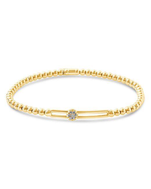 Hulchi Belluni - Metallic 18k Yellow Gold Tresore Diamond Single Station Stretch Bracelet - Lyst