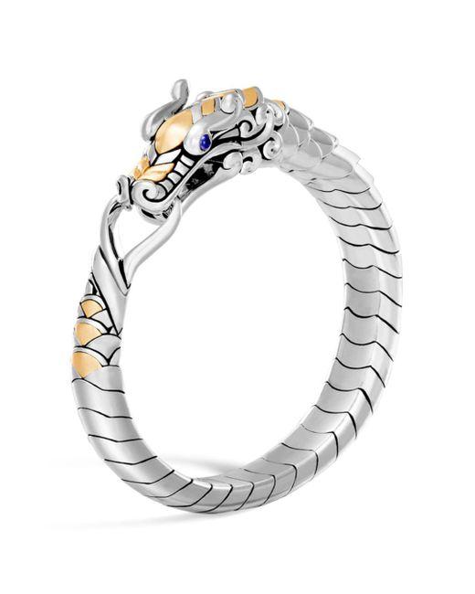 John Hardy - Metallic 18k Yellow Gold & Sterling Silver Legends Naga Bracelet With Blue Sapphire Eyes - Lyst