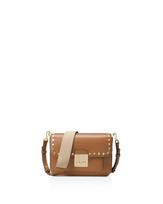 MICHAEL Michael Kors | Multicolor Sloan Editor Studded Large Leather Shoulder Bag | Lyst