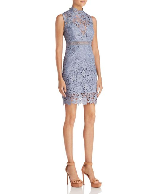 Bardot - Blue Paris Lace Dress - Lyst