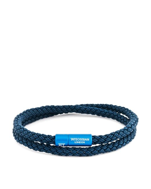 Tateossian - Blue Rubber Cable Bracelet for Men - Lyst