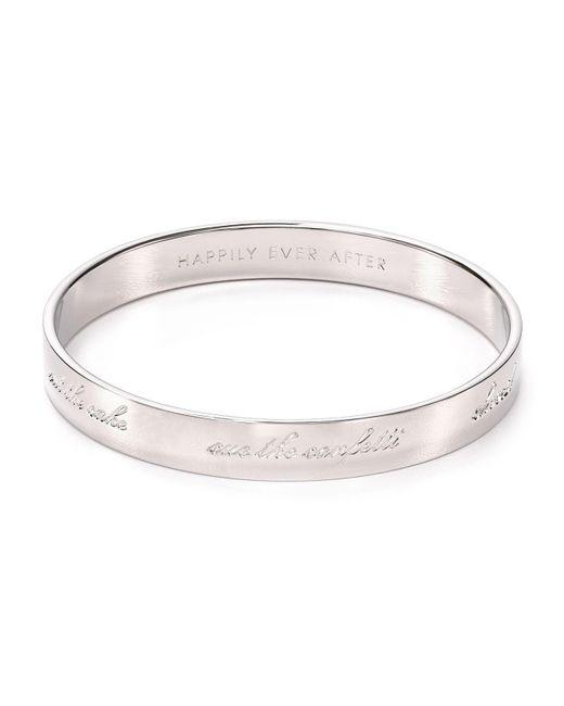 Kate Spade | Metallic Bride Engraved Idiom Bangle | Lyst