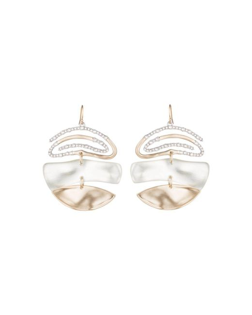 Alexis Bittar - White Pavé Spiral Drop Earrings - Lyst