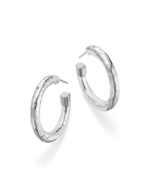 Ippolita - Metallic Sterling Silver Glamazon® Hoop Earrings - Lyst