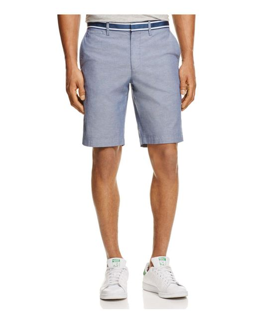 Original Penguin | Blue Grosgrain Trim Oxford Shorts for Men | Lyst