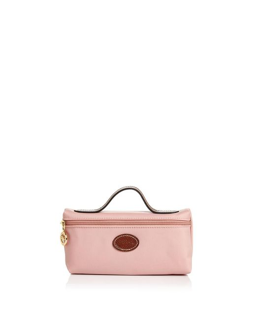 Longchamp | Pink Le Pliage Cosmetic Case | Lyst