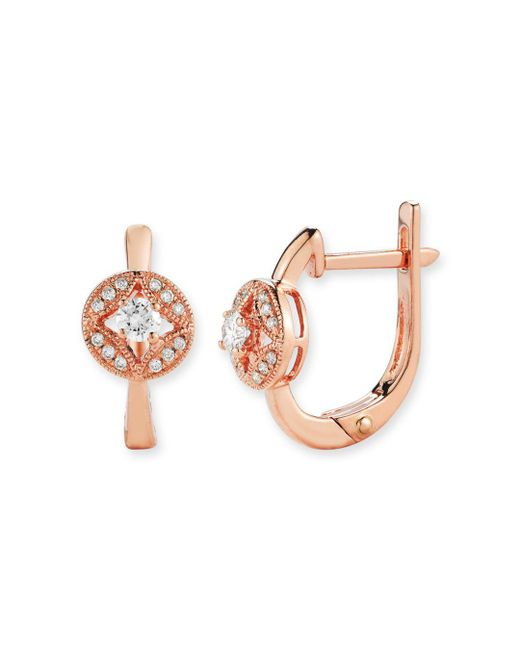 Bloomingdale's - Pink Diamond Earrings In 14k Rose Gold, .20 Ct. T.w. - Lyst