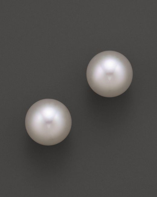 Tara Pearls | 18k Yellow Gold White South Sea Cultured Pearl Stud Earrings, 12-13mm | Lyst