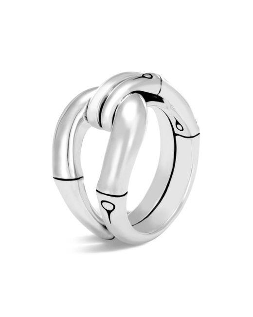 John Hardy - Metallic Sterling Silver Bamboo Loop Ring - Lyst