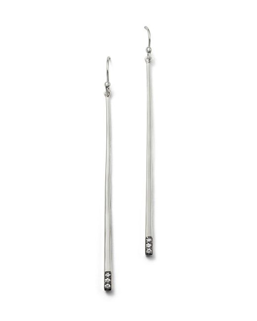 Ippolita | Metallic Sterling Silver Glamazon® Stardust Linear Earrings With Diamonds | Lyst