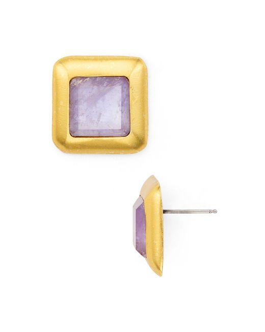 Stephanie Kantis | Metallic Crush Square Stud Earrings | Lyst