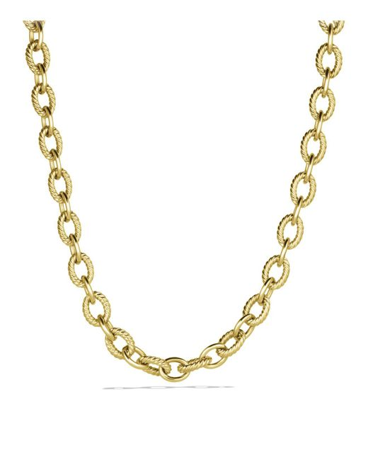 David Yurman | Yellow Large Oval Link Necklace In Gold | Lyst