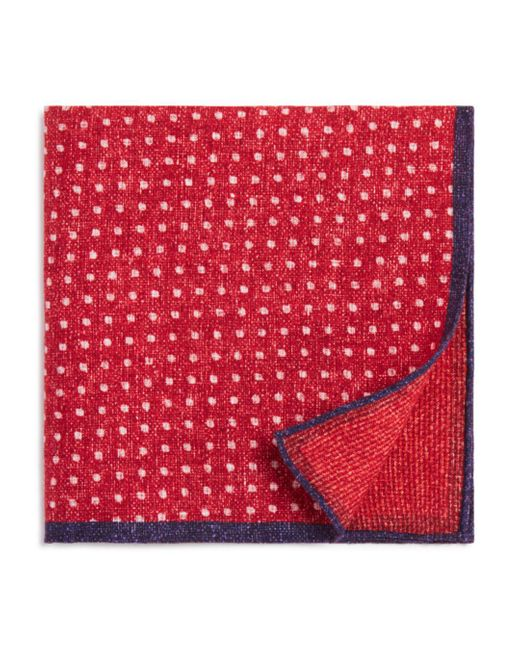 Bloomingdale's - Red Dot/box Weave Pocket Square for Men - Lyst