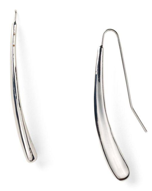 Robert Lee Morris | Metallic Silver Tear Drop Pull Through Earrings | Lyst