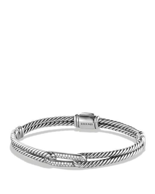 David Yurman - Metallic Petite Pavé Labyrinth Mini Loop Bracelet With Diamonds - Lyst