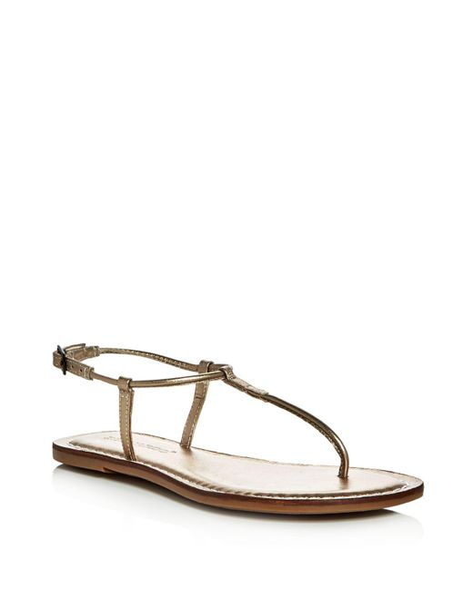 Bernardo - Brown Lilly T-strap Thong Sandals - Lyst